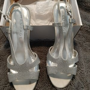 Rampage Shoes - Silver heels